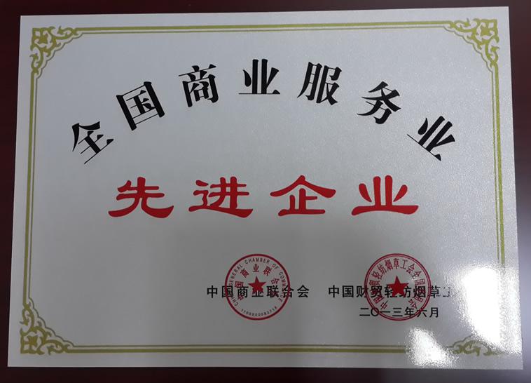 2013年中国商业服务业先进企业