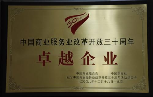 2008年中国商业服务业改革开放三十年卓越企业